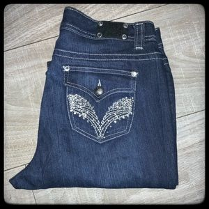 Style & Co Jeans. Rhinestone Wing Back Pocket 8